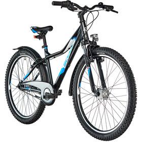 s'cool troX urban 26 7-S Børn, black/blue matt
